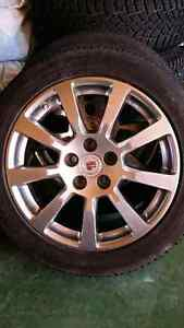 """18"""" Cadillac Wheels with Toyo Open Country Winter Tires"""