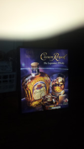 Crown Royal CFL Back lit Rectilinear Motion Sign