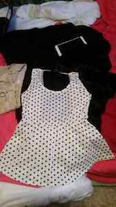 Polka dot shirt with mesh back