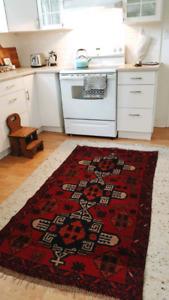 Vintage Afghan boho rug