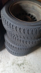 brand new winter tires on rims (yokohama)