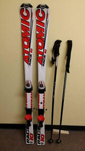 Atomic ski's bindings and poles
