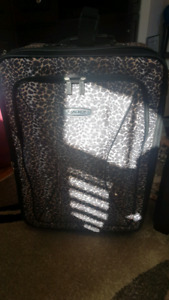 Large Tracker Suitcase Mint condition Leopard Print Luggage