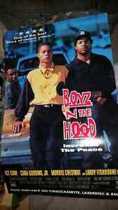 original 1991 real cardboard movie poster of boys in the hood!!! London Ontario image 1