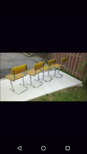 2 or 4 MCM Vintage Chrome Chairs - Great Shape!
