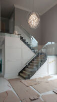 Glass Shower-Glass Stair Railing - Service-Sale-Install