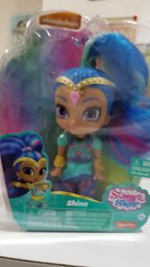 poupee Shine, Ariel, Barbie, Clochette, Minnie, Daisy Goof dolls