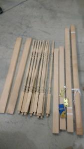 Kit à assembler une barrière d'escalier en bois massif