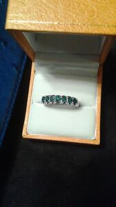 Sterling silver and natural emeralds ring. Edmonton Edmonton Area image 1