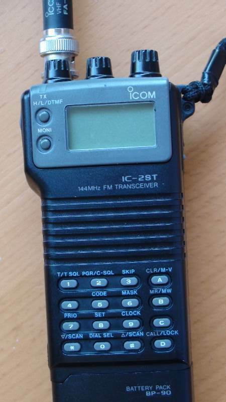 Icom Ic 2st Ham Radio Vhf Handy 144mhz Head Set Mic Vox