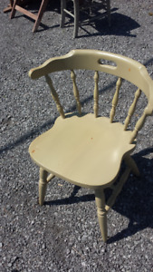Painted Wood Dining Chairs