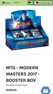 Magic The Gathering: Modern Masters 2017 Booster Box