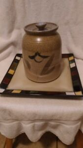 Cookie Jar and Food Platter/ Tray sold together or seperate