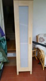Pine effect slim wardrobe