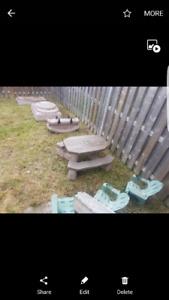Childrens patio set
