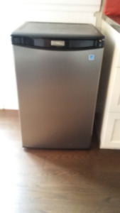Stainless 4.4 cubic foot Danby Designer Compact Fridge