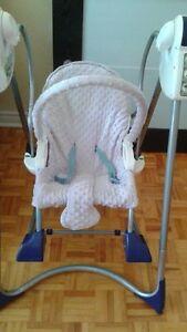 Chaise bercante pour bébé