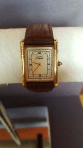 Authentic Vintage Cartier Watch With Appraisal