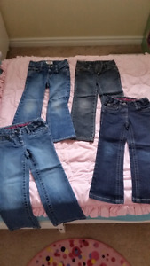 Size 4 Girls jeans/camo cords (pink next pic)