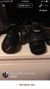 Canon 600D w extras