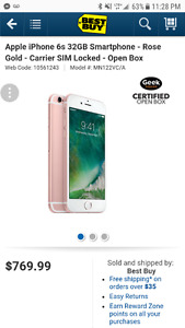 Mint condition Iphone 6S 32 G