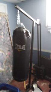 100 pound Heavy Bag, chains and gloves