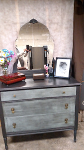 Antique mirrored dresser
