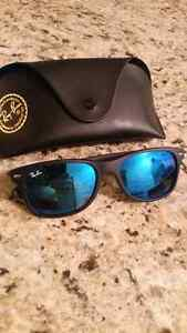 rayban rb 2132 matte black blue flash 55 frame paid $240 . $100