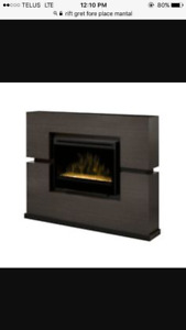 Electric Fire Place And Mantel