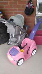 Pink push car stroller etc by fairview mall