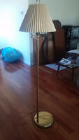 Gold Extendable Floor lamp - Great Condition - CAN DELIVER!