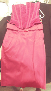 Size small bright pink 2 peice dress