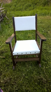 Hand crafted pine child's rocking chair