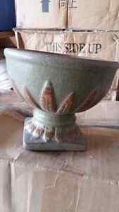 """Urn flower pots ceramic 6.75 """""""