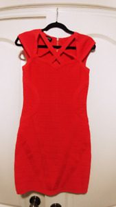 BEBE Coral Bodycon Dress - Size M