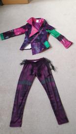 Disney store descendants Mal costume age 9-10 girls fancy dress up vgc