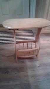 Oak Magazine Table/Rack