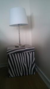 Striped zebra ottoman