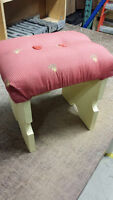 Small Decorative Strawberry-Shortcake Style Bench / Footrest