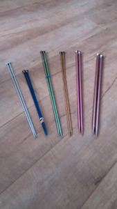 Knitting needles - six pairs various sizes