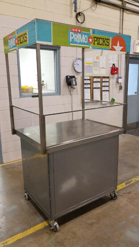 Food Kiosk , Demo Cart, Concession Stand with Portable Sink