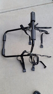 Trunk mounted bike rack for two
