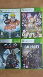 Jeux X-BOX 360 - CALL OF DUTY/ NARUTO/ ASSASIN'S CREED