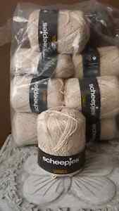 8 balls beige cotton knitting yarn