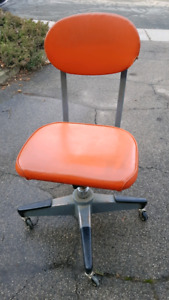 Vintage orange industrial chair