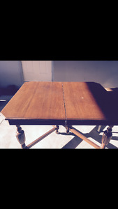 Antique Solid wood Dining Table and chairs