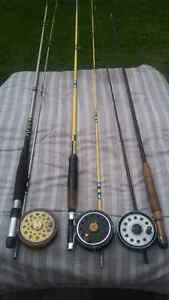 2 Ligne a Mouche Canne Moulinet Fly Fishing Rods Reels