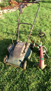 """B&D 18"""" Electric Lawm Mover, Weed Eater and Hedge Trimmer"""
