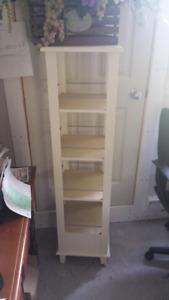 Tall off white shelf