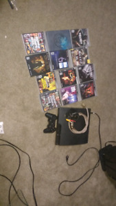 PS3 all cords lots of games